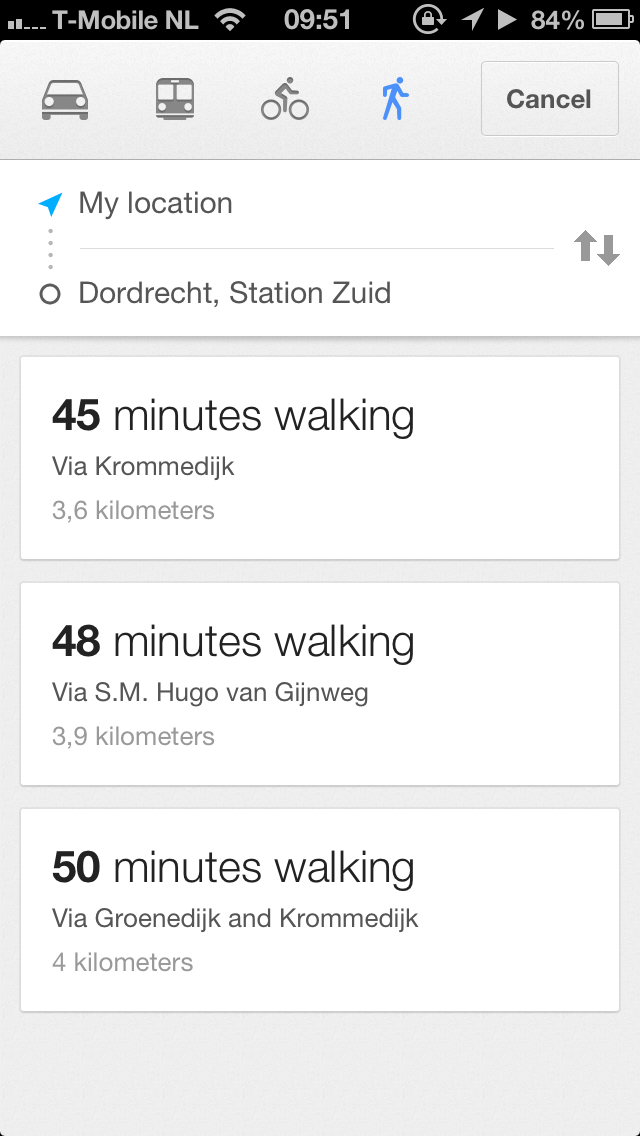 route beschrijving google maps