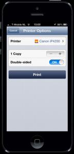 Vanaf de iPhone printen naar een niet-AirPrinter met Printopia