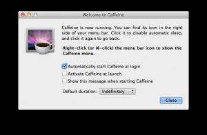 Caffeine Mac: voorkeuren