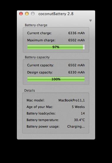 De accu van een Mac gaat vaak als eerste kapot: controleer deze met de ingebouwde software of een programma als Coconut Battery