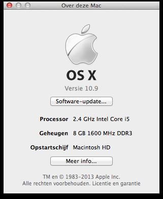 """Het serienummer van een Mac vind je onder het """"Over deze Mac""""-scherm"""
