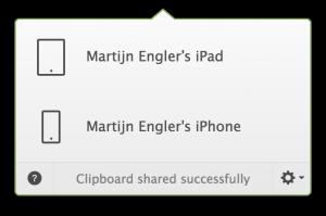 Tekst kopiëren vanaf je Mac naar je iPhone of iPad