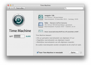 Time Machine backups instellen op je Mac