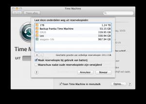 Laat mappen of complete schijven weg uit je Mac backups